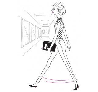 骨盤の広がりを防ぐ歩行方法