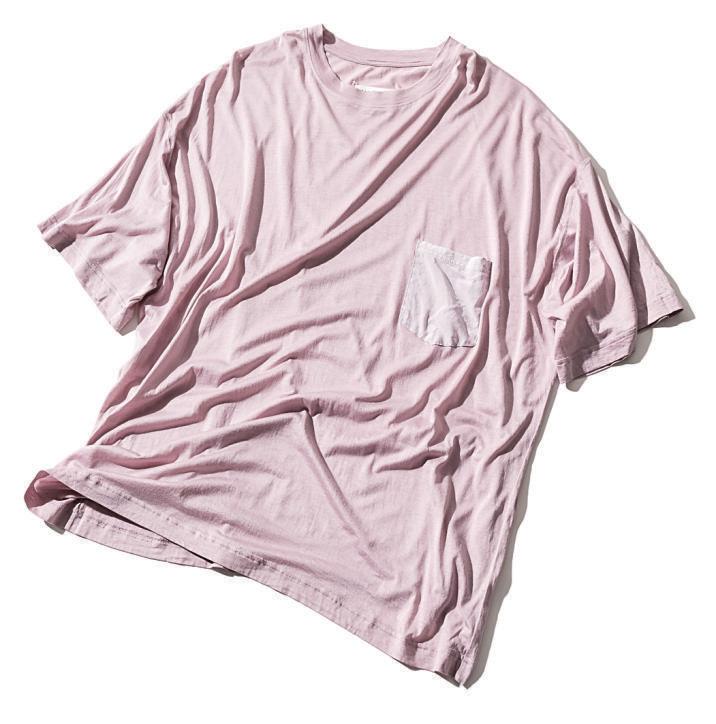 Tシャツ デザイン×胸ポケット付きビックTシャツ