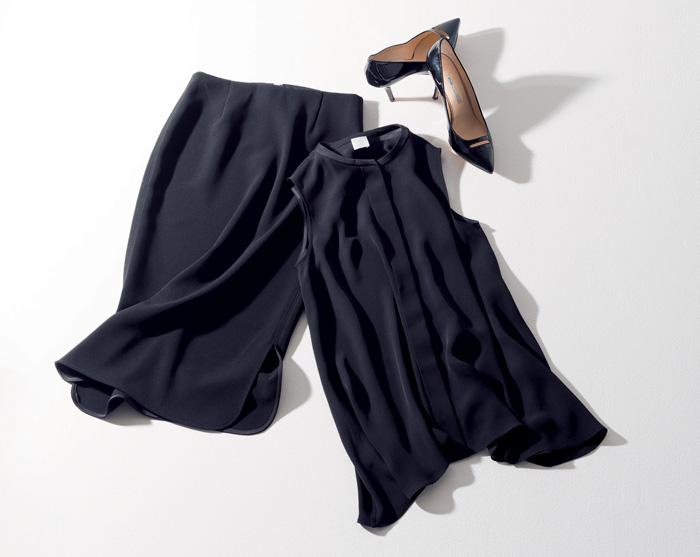 ゥーズィエム クラス×黒のタイトスカート