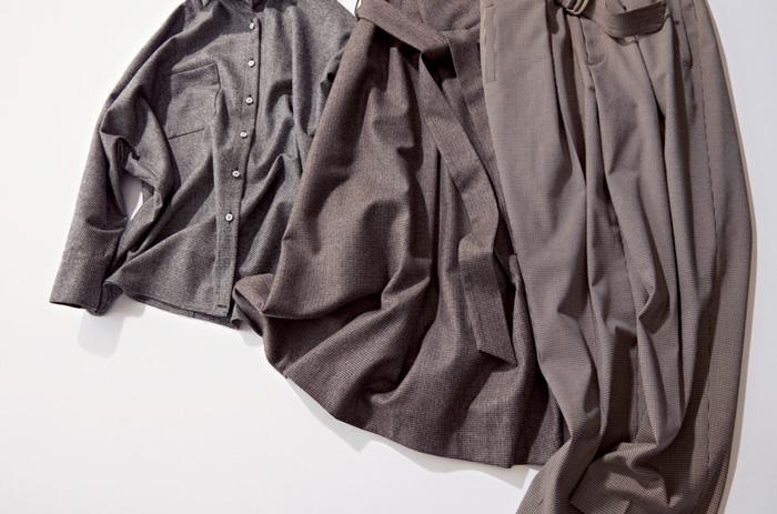 イエナ×グレーのフレアスカート