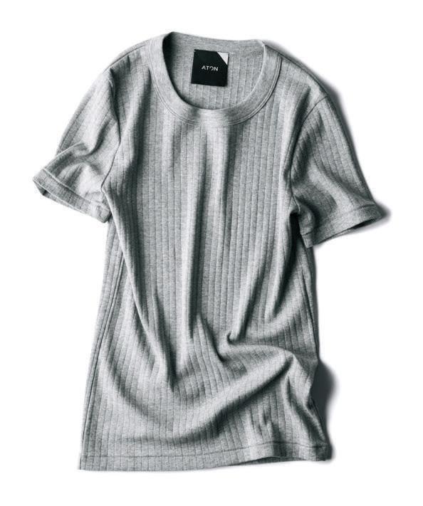 【エイトン】のリブTシャツ