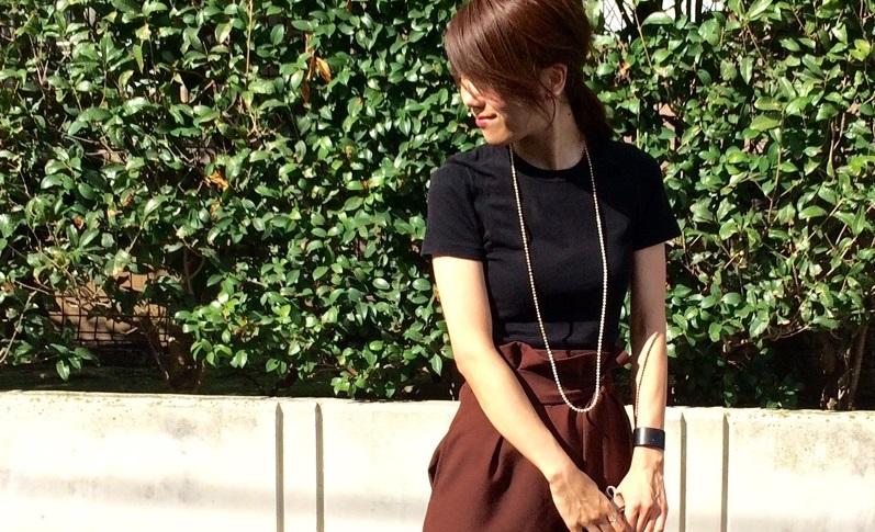 Tシャツ デザイン・丸ネック×プチバトーの黒Tシャツ