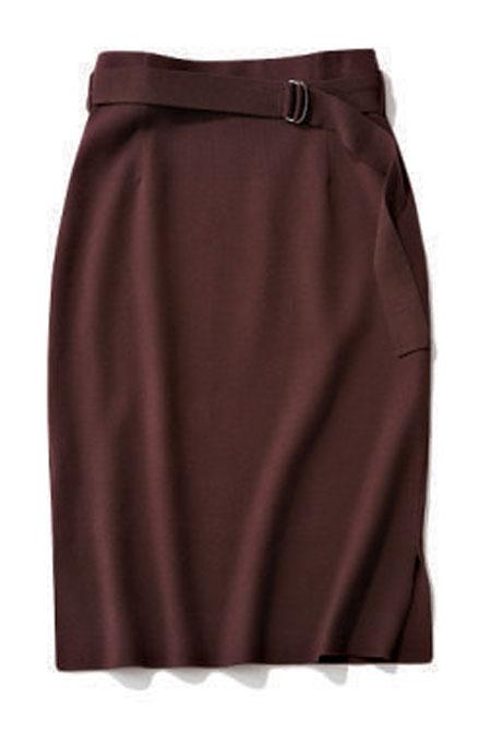 BOSCHの茶のニットタイトスカート