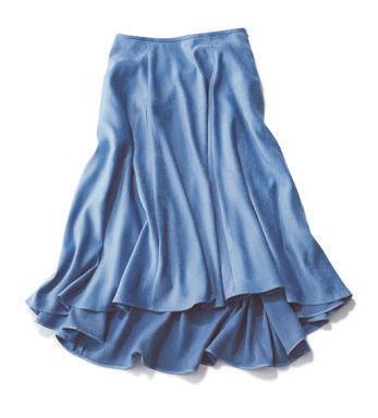 エストネーション×大人ブルーのテールスカート