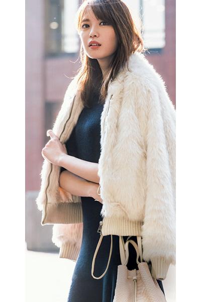 ふわもこ淡色コート