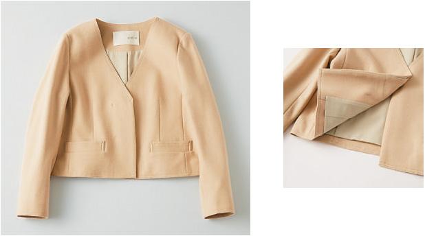 カリテ×ベージュのジャケット