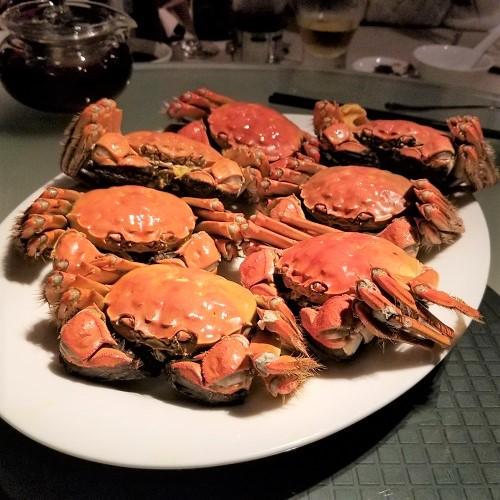 茹で上海蟹1
