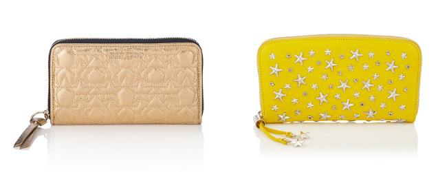 黄色の長財布・ブランド:ジミー チュウ