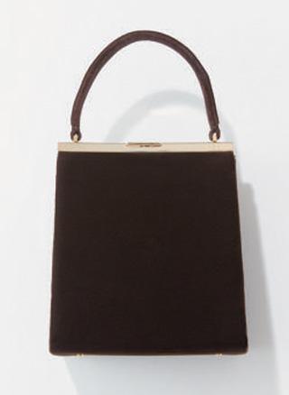 ユナイテッドアローズのベロアのワンハンドルバッグ