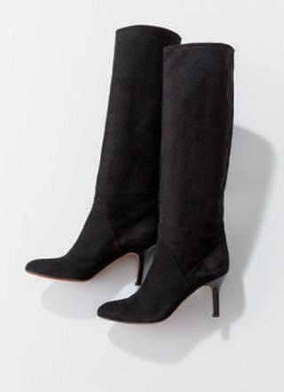 ペリーコ×黒スエードのロングブーツ