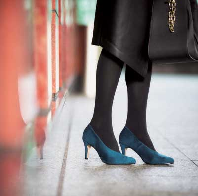 ニットと靴