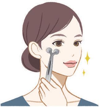 顔の凹凸にフィットして、顔のむくみをつまみ流す! 美顔ローラー