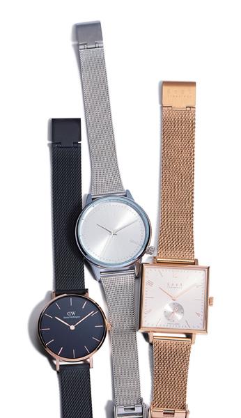 メッシュベルト時計
