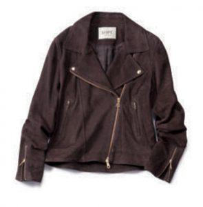 ロペ×ブラウンのライダースジャケット