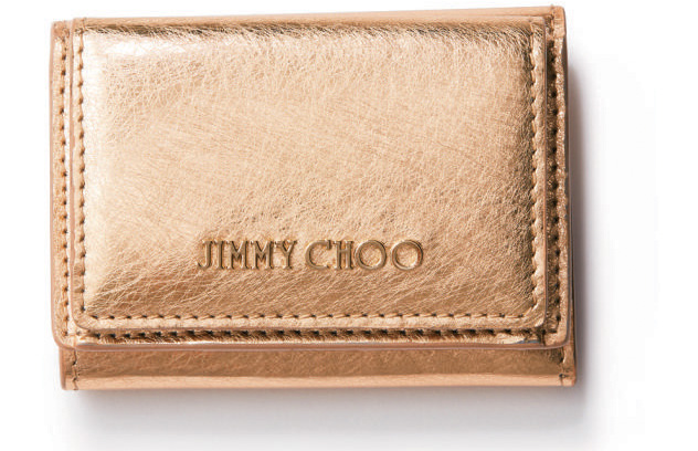 ジミーチュウ 財布 ゴールド
