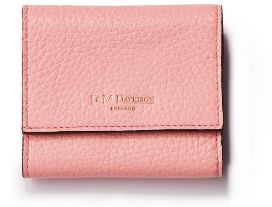 J&M デヴィッドソンのパステルピンクのミニ財布