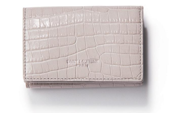 グレー 財布 サンローラン
