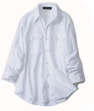エストネーション×白シャツ