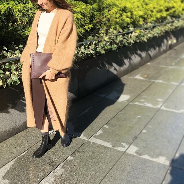 ETRÉ TOKYO ニットコート レインブーツ