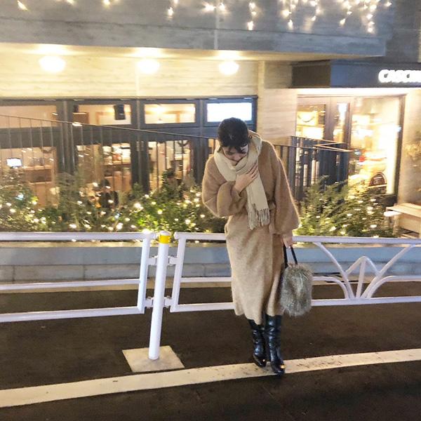 ETRÉ TOKYO ニットコート ブーツ