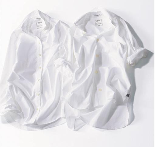 マディソンブルーの白シャツ