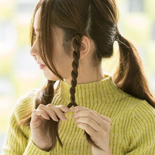 ロープ編みひとつ結び