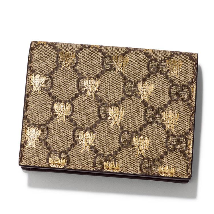 グッチ×GGスプリーム ビー(ハチ) のミニ財布