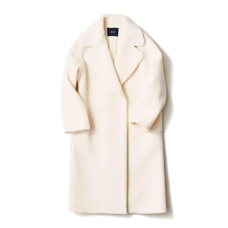 【アルアバイル】白いロング丈のガウンコート
