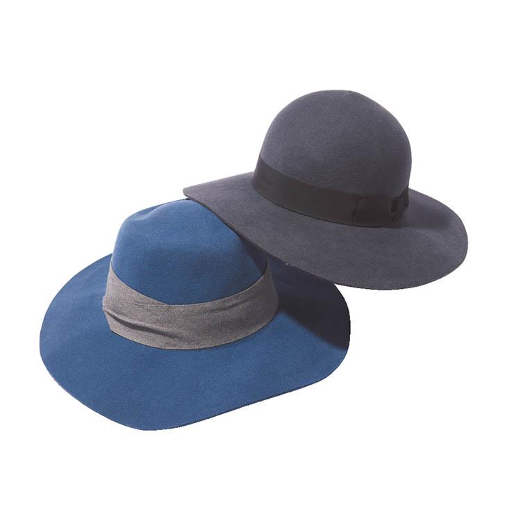 つば広女優帽