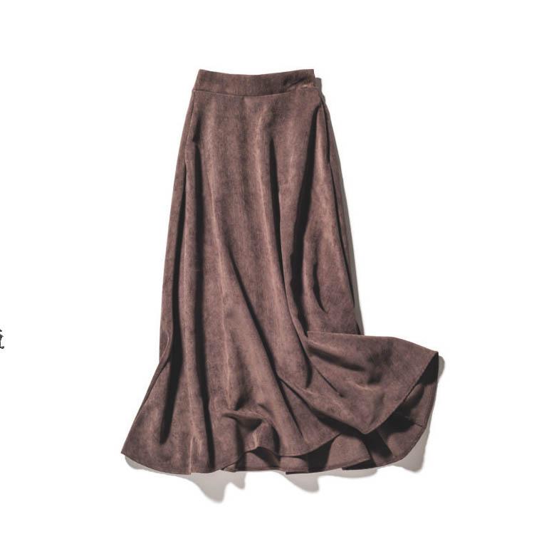 STYLE DELIのコーデュロイマキシスカート