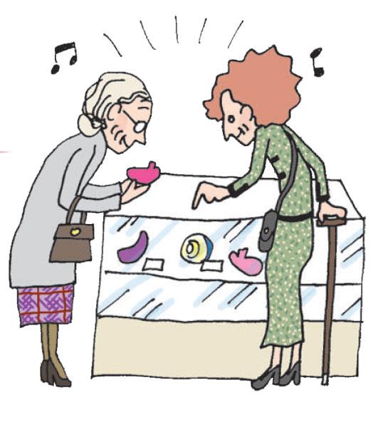 年配 女性 デパート