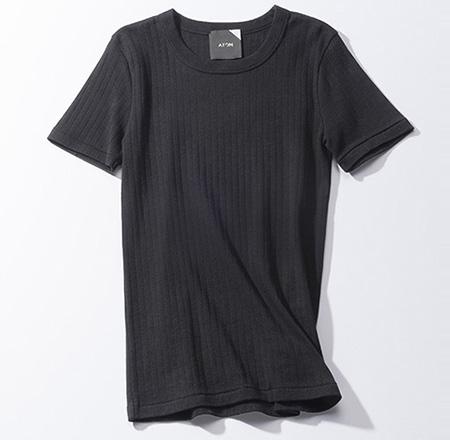 エイトン|コットンリブTシャツ