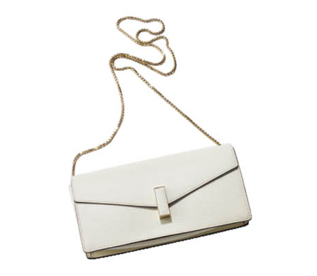ショルダーバッグ おすすめ×ヴァレクストラのミニ白バッグ