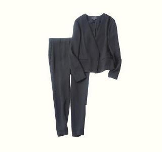 セオリー×黒ジャケット・パンツのセットアップ