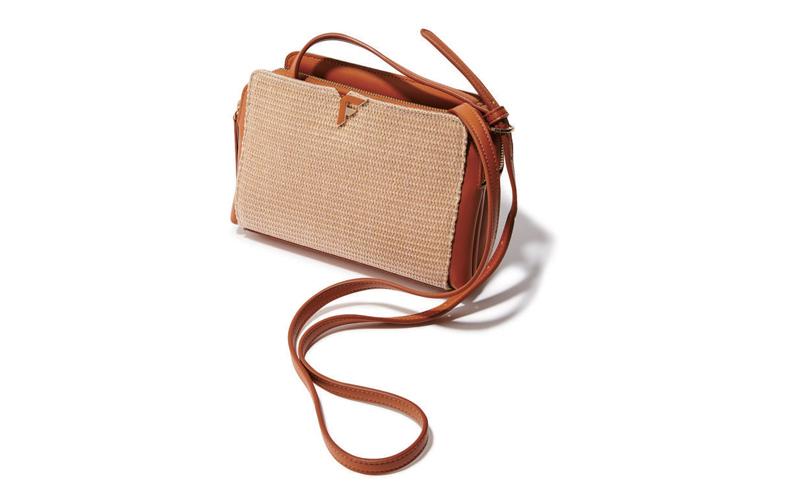 ショルダーバッグ おすすめ×FIORELLIのレザー×ラフィアバッグ