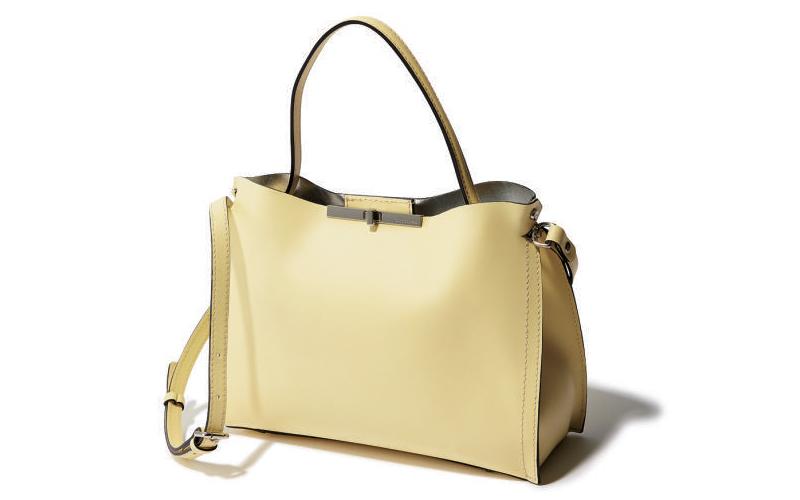 ワンハンドルバッグ:ジャンニ・キアリーニのレモンカラーバッグ