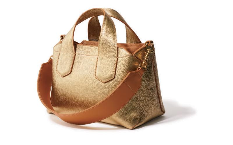 ストラップバッグ:イアクッチのゴールドバッグ