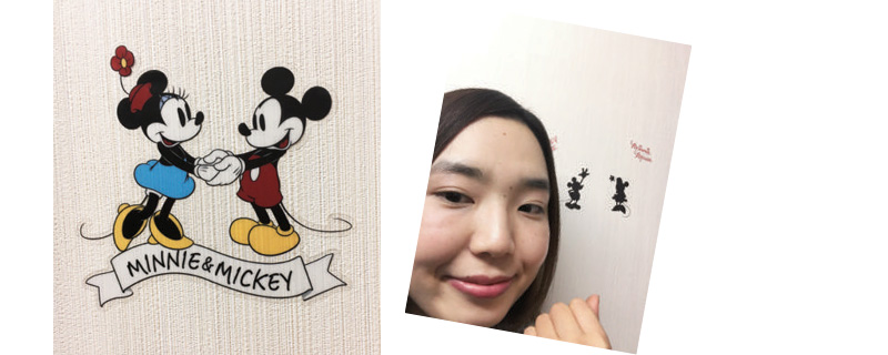 Seriaグッズ ディズニー壁に貼れるシール