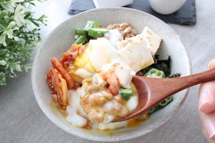 ダイエットレシピ 温玉丼