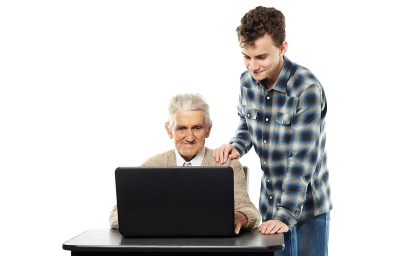 若者とお年寄り