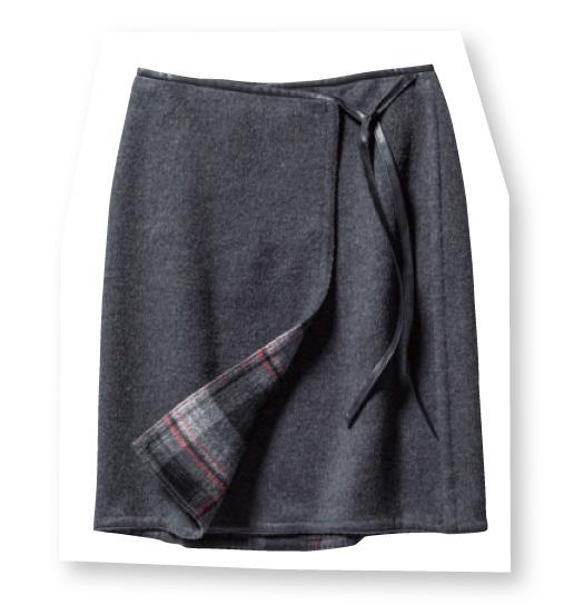 【ルーニー】リバーシブルラップスカート