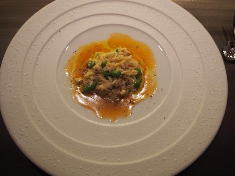 えんどう豆とチーズのリゾット