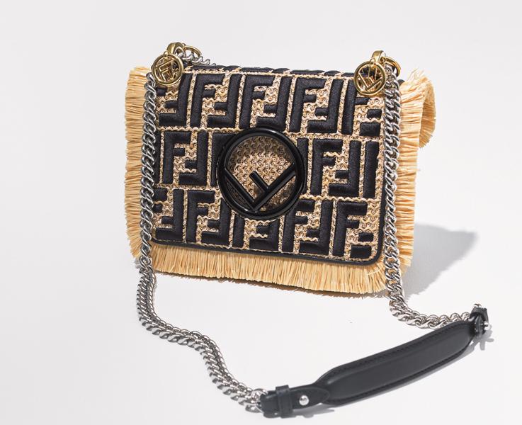 FENDI|フェンディのラフィアチェーンバッグ