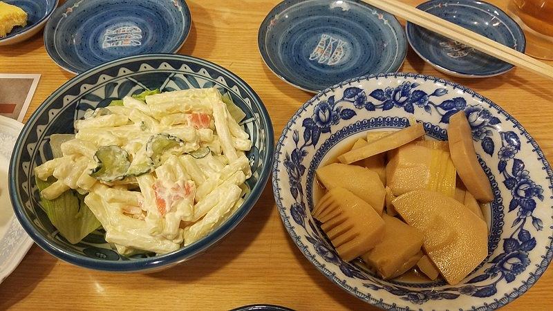 マカロニサラダ 筍の煮物
