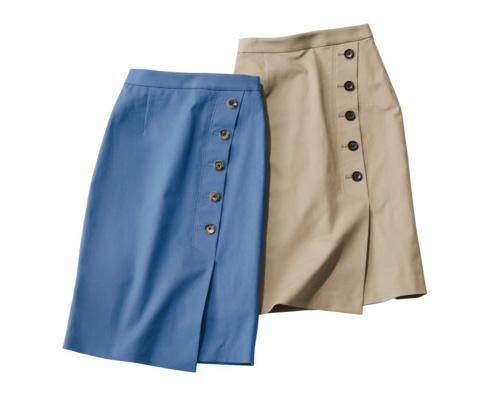 Oggiコラボのチノタイトスカート