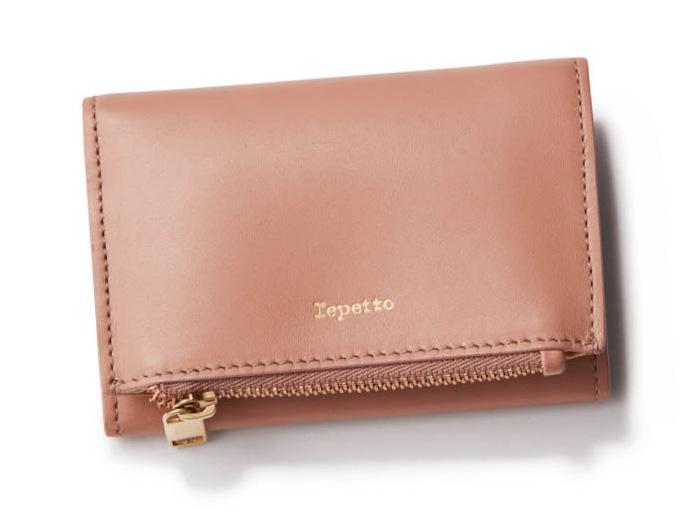 ピンクベージュの財布・ブランド:レペット