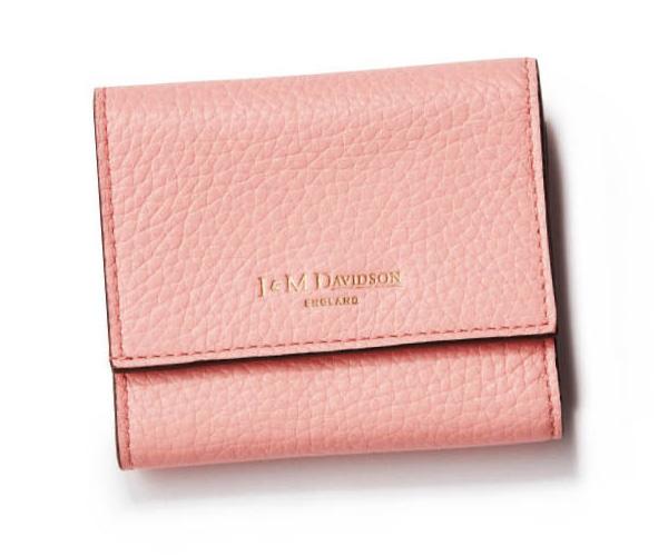 ピンクのミニ財布・ブランド:J&M デヴィッドソン