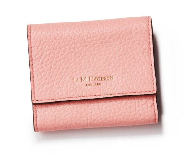 J&M デヴィッドソン×ピンクのミニ財布