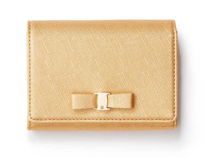 アンテプリマ×ゴールドのミニ財布