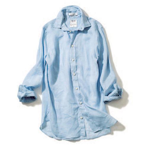 マディソンブルー×ライトブルーのシャツ